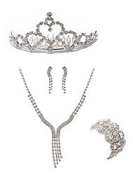 cheap -Women's Jewelry Set - Imitation Diamond European, Fashion Include Tiaras / Bridal Jewelry Sets White For Wedding / Party