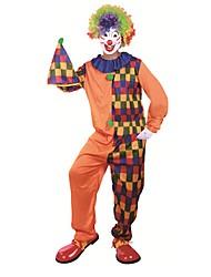 Недорогие -Клоун Цирк Косплэй Kостюмы Костюм для вечеринки Универсальные Карнавал Фестиваль / праздник Костюмы на Хэллоуин Оранжевый Контрастных