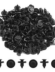 abordables -100pcs 8mm dia noir plastique splash tapis push-type tapis intérieur clips pour les voitures