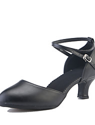 """preiswerte -Damen Modern Lackleder Sneaker Absätze Draussen Glitter Schnürsenkel Gerafft Rüschen Kubanischer Absatz Burgund Schwarz Silber Gold 2 """"-"""
