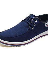 Недорогие -Муж. Полотно / Ткань Весна / Осень Удобная обувь Кеды Черный / Серый / Синий
