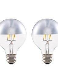cheap -2pcs 4W 350lm E27 LED Filament Bulbs G80 4 LEDs COB Decorative LED Lights Warm White 2700K AC 220-240V
