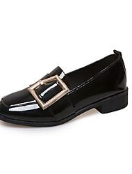 abordables -Femme Chaussures Polyuréthane Printemps / Eté Confort Mocassins et Chaussons+D6148 Talon Bas Bout carré Perle pour Habillé Noir / Vert