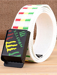 cheap -Men's Fabric Waist Belt Buckle