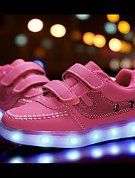 abordables -Fille Chaussures Similicuir Matières Personnalisées Cuir Nubuck Hiver Printemps Chaussures Lumineuses Confort Basket LED Scotch Magique