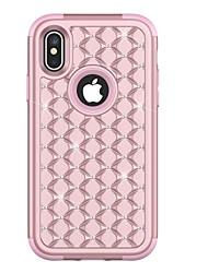 preiswerte -Hülle Für Apple iPhone X / iPhone 8 Plus Stoßresistent / Strass Ganzkörper-Gehäuse Rüstung Hart TPU für iPhone X / iPhone 8 Plus / iPhone 8