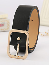 cheap -Women's Casual Leather Wide Belt