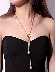 cheap -Women's Imitation Pearl Imitation Pearl Pendant Necklace - Casual Heart Circle Gold Silver Necklace For Party Bar