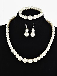 cheap -Women's Jewelry Set - Imitation Pearl Bohemian, European, Sweet Include White For Party / Evening Party / Earrings