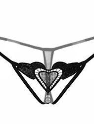 abordables -Femme strings & Tangas - Jacquard, Couleur Pleine Taille basse