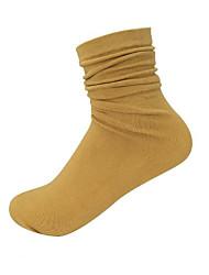 Недорогие -10 пар Для женщин Носки Standard Однотонный Пот абсорбент Дезодорант Хлопчатобумажная ткань EU36-EU42