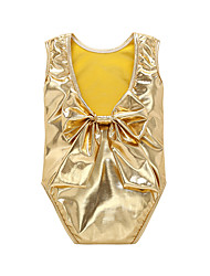 cheap -Baby Girls' Christmas Birthday Solid One-Pieces,Polyester Summer Simple Sleeveless Gold