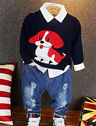economico -Bambino (1-4 anni) Da ragazzo Attivo Con stampe Manica lunga Completo