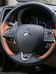 baratos -Coberturas de volante automotivo (couro) para mitsubishi 2016 2017 2018 outlander