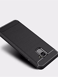 abordables -Funda Para Samsung Galaxy A8 2018 A8 Plus 2018 Congelada Funda Trasera Color sólido Suave TPU para A5(2018) A7(2018) A3 (2017) A5 (2017)