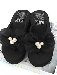 cheap -Women's Shoes EVA PU Summer Comfort Slippers & Flip-Flops Wedge Heel Closed Toe for Casual Outdoor Black Gray Fuchsia Light Pink