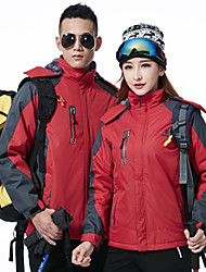 cheap -Men's Women's Hiking Down Jacket Outdoor Winter Waterproof Thermal / Warm Windproof Insulated Comfortable Top Camping / Hiking Cycling /