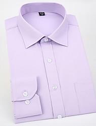 baratos -Homens Camisa Social - Trabalho Sólido Colarinho de Camisa