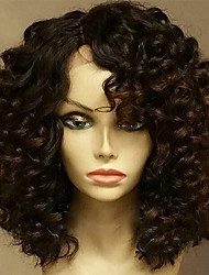 cheap -Human Hair Lace Front Wig Brazilian Hair Curly 130% Density With Baby Hair Glueless Unprocessed Natural Hairline Short Medium Human Hair