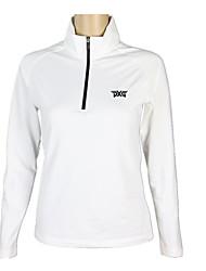 baratos -Mulheres Golfe Camiseta com Fecho Secagem Rápida / A Prova de Vento / Vestível Golfe / Exercicio Exterior Desportos e Ar livre