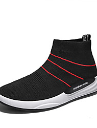 cheap -Men's Shoes Knit Spring Summer Comfort Sneakers for Casual Office & Career Black Black/White Black/Red