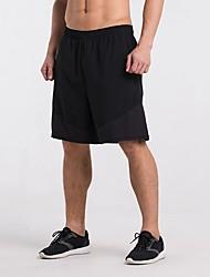 baratos -Homens Shorts de Corrida - Black / azul, Preto / amarelo, Arco-Íris Esportes Listrado Shorts Fitness, Ginásio, Exercite-se Roupas Esportivas Secagem Rápida