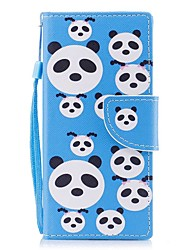 cheap -Case For Sony Sony Xperia XA Xperia XZ1 Compact Xperia XZ1 Card Holder Wallet with Stand Flip Magnetic Pattern Full Body Cases Panda Hard