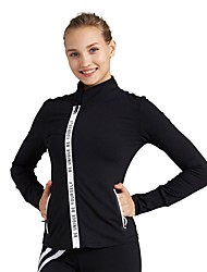cheap -Women's Running Jacket Long Sleeves Breathability Jacket Sweatshirt Top for Running/Jogging Nylon Red Black L M S