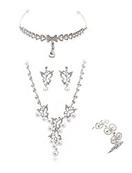 cheap -Women's Jewelry Set - Imitation Diamond Butterfly European, Fashion Include forehead jewelry / Bridal Jewelry Sets White For Wedding / Party