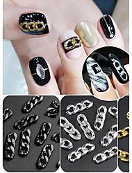 Недорогие -Искусственные советы для ногтей Инструменты для ногтей DIY Своими руками маникюр Маникюр педикюр Повседневные металлический / Панк / Мода