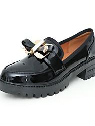 baratos -Mulheres Sapatos Courino Primavera Outono Conforto Botas Salto Robusto para Festas & Noite Preto