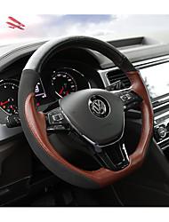 Недорогие -Чехлы на руль Настоящая кожа 38 см Черный / Кофейный For Volkswagen Teramont 2017