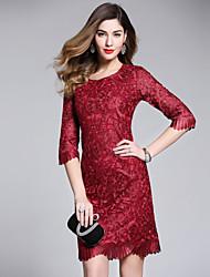 cheap -YHSP Women's Street chic A Line Sheath Dress - Solid Colored, Mesh
