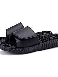 cheap -Men's Shoes Leather Summer Comfort Slippers & Flip-Flops for Casual Black