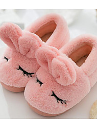 cheap -Girls' Shoes Fleece Winter Fall Comfort Slippers & Flip-Flops for Casual Gray Coffee Pink Light Blue