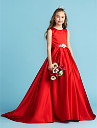8d1aee1e6f cheap Junior Bridesmaid Dresses-A-Line   Princess Jewel Neck Floor Length  Satin Junior