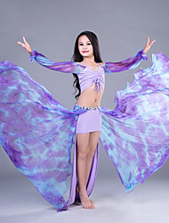 cheap -Belly Dance Outfits Performance Cotton Linen Modal Bandage Long Sleeves Dropped Skirts Top