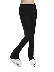 cheap -Figure Skating Pants Women's Girls' Ice Skating Pants / Trousers Black Spandex Stretchy Performance Practise Skating Wear Solid Long
