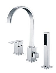cheap -Bathtub Faucet - Waterfall Chrome Widespread Single Handle Three Holes