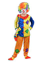 cheap -Burlesque Clown Circus Cosplay Costume Party Costume Unisex Carnival Festival / Holiday Halloween Costumes Rainbow Color Block