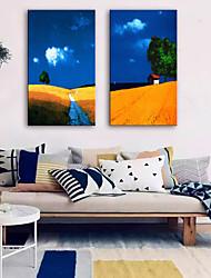 abordables -Toile Rustique Moderne, Deux Panneaux Toile Format Vertical Imprimé Décoration murale Décoration d'intérieur