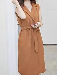 cheap -Women's Chic & Modern Blazer-Solid Colored,Modern Style V Neck