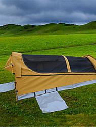 abordables -Deerke 1 personne Tente Tunnel Unique Tente de camping Extérieur Tente pliable Pare-vent Etanche Retenant la chaleur pour Camping /