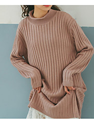 cheap -Women's Daily Casual Long Cardigan,Solid Round Neck Long Sleeve Cashmere Winter Thick Inelastic