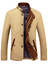 cheap -Men's Vintage Jacket - Solid Stand