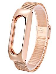 economico -Cinturino per orologio  per Mi Band 2 Xiaomi Custodia con cinturino a strappo Cinturino sportivo Cinturino a maglia milanese Metallo
