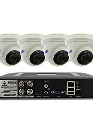 cheap -4CH 1080N DVR kit 4pcs 1000TVL Dome CCTV Camera Security System Indoor Day Night IR-CUT 3.6mm