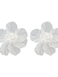 Недорогие -Жен. Серьги-гвоздики Цветы и растения Цветы Дамы Милая Мода Серьги Бижутерия Белый Назначение Для вечеринок