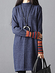 cheap -Women's Party Long Sleeves Cashmere Long Cardigan - Solid Colored
