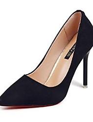 Недорогие -Жен. Обувь Полиуретан Зима Осень Удобная обувь Обувь на каблуках Высокий каблук Заостренный носок для Повседневные Черный Коричневый